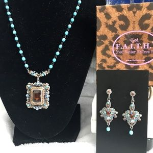 F.A.I.T.H. necklace and earring set